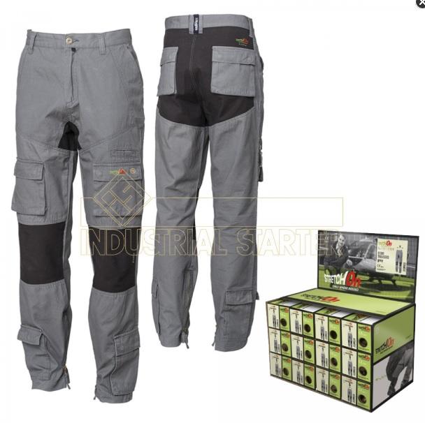 552a4609704306 Spodnie Robocze Stretch On - Green-Tech